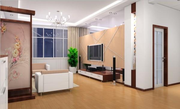 使用镜面使空间更动感,同时也使客厅视觉效果更为强烈,整个客厅空间更宽敞明亮。搭配前面造型凌乱的线条,体现风格更具现代气息混搭偏中式的隔断橡木电视柜使整个空间现代但不浮躁,稳重但不沉闷。