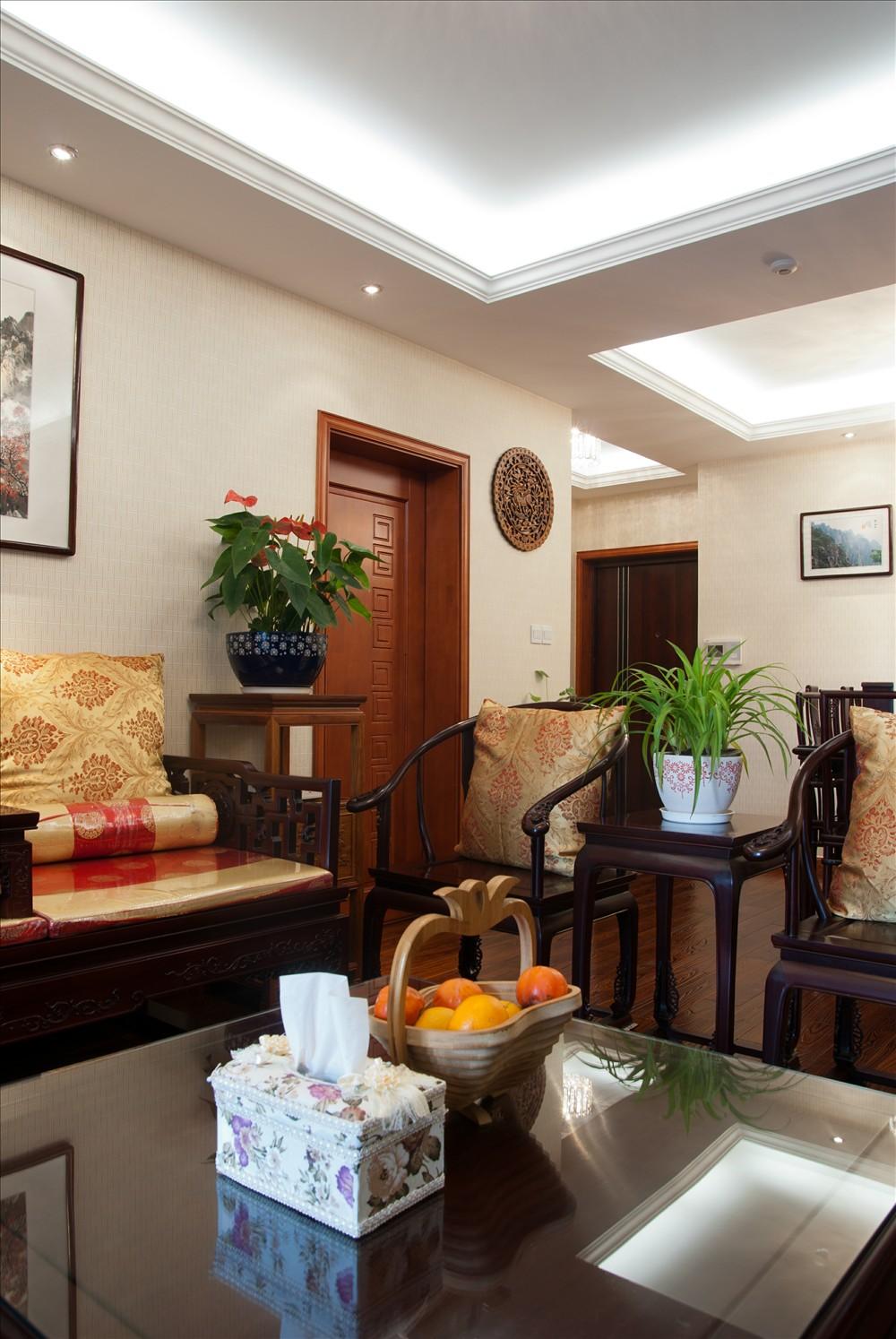 元洲 元洲装饰 美式风格 润泽公馆 北京装修 客厅图片来自元洲小贝在108平米中式风格的分享