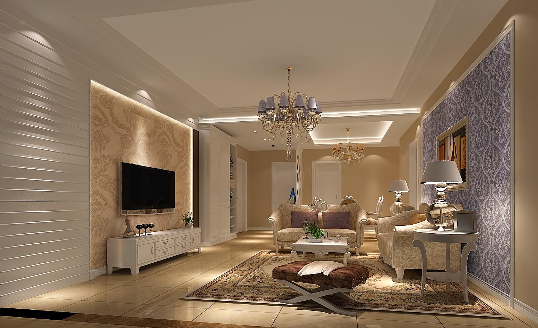 长滩壹号院 高度国际 三居 白领 80后 欧式 白富美 简约 时尚 客厅图片来自北京高度国际装饰设计在长滩壹号院的分享