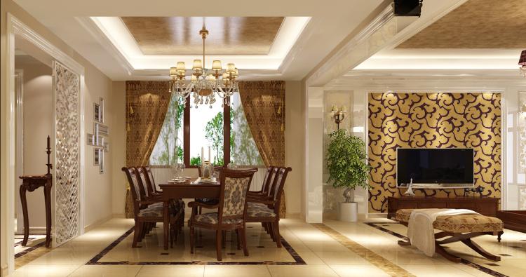 欧式 餐厅图片来自高度国际装饰舒博在潮白河孔雀城2的分享