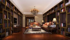 简约 中式 高度国际 别墅 三居 80后 白领 白富美 时尚 书房图片来自北京高度国际装饰设计在西山壹号院200平品质三居的分享
