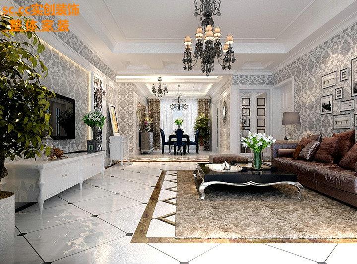 四居 欧式风格 客厅图片来自实创装饰晶晶在绿地160平4房欧式冷俊的奢华的分享