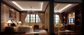 高度国际 别墅 白领 简约 美式 80后 小资 高富帅 白富美 卧室图片来自北京高度国际装饰设计在天竺新新家园美式380平休闲别墅的分享