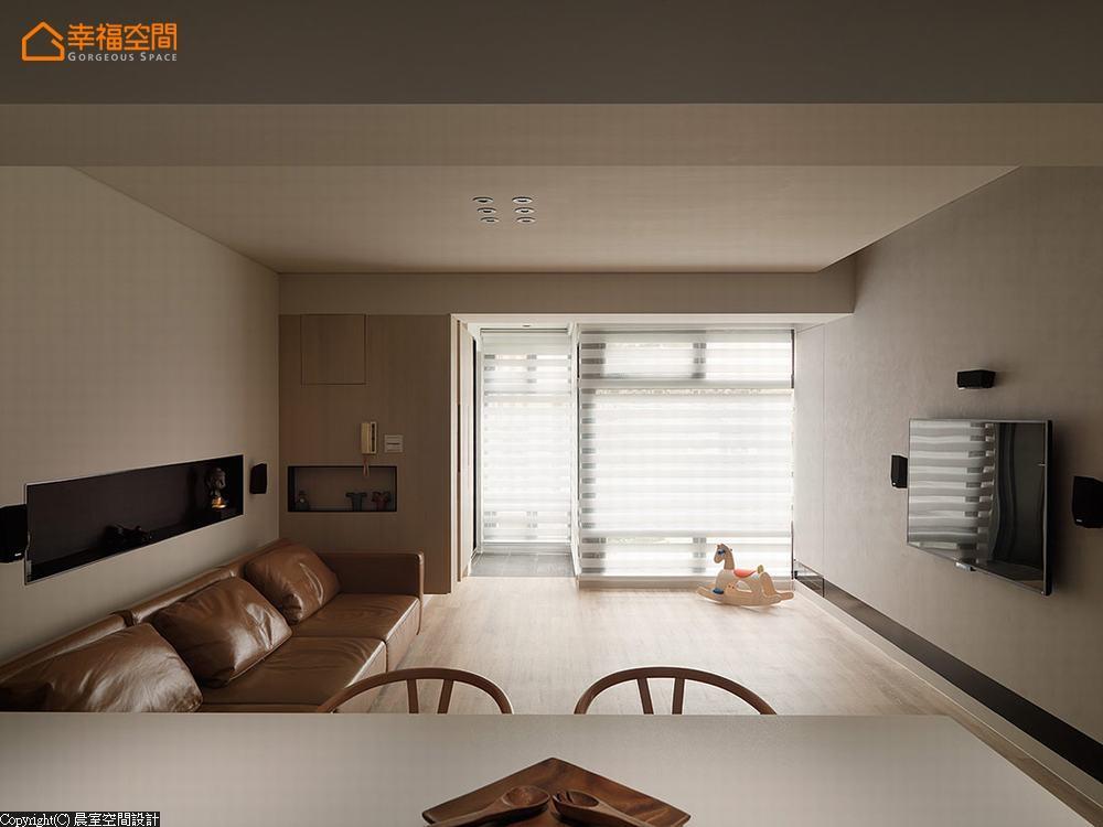 休闲风格 现代 三居 旧房改造 客厅图片来自幸福空间在细腻隽永 99平静谧美宅的分享
