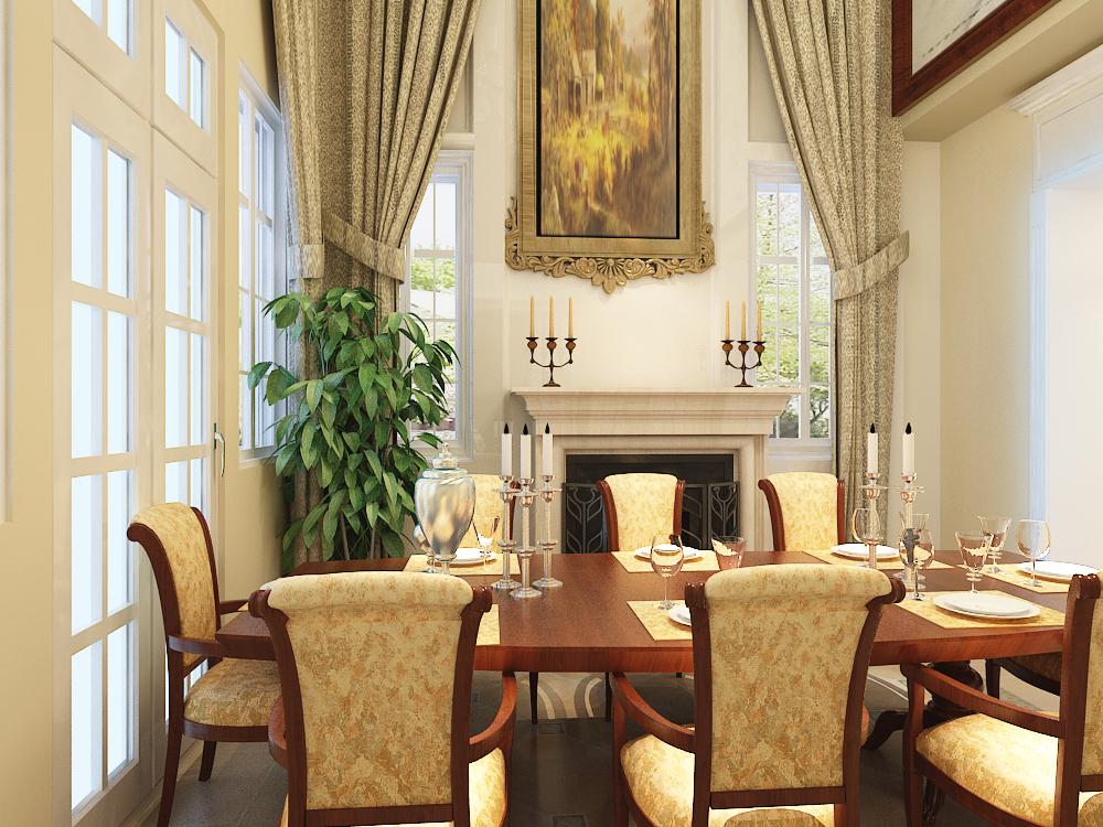 欧式 三居 80后 小资 餐厅图片来自天津宜家宜装饰在宏成御溪园的分享