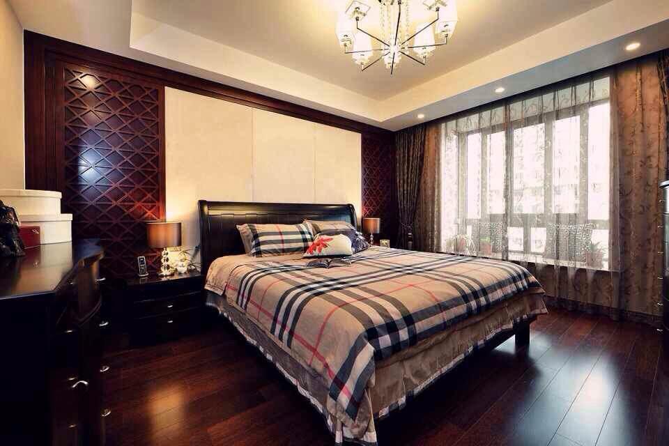 卧室图片来自沙漠雪雨在新中式 完全实景典范的分享