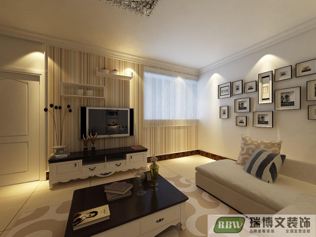 简约 二居 客厅图片来自石家庄瑞博文张琳在4.1万打造锦融尚御现代简约风的分享
