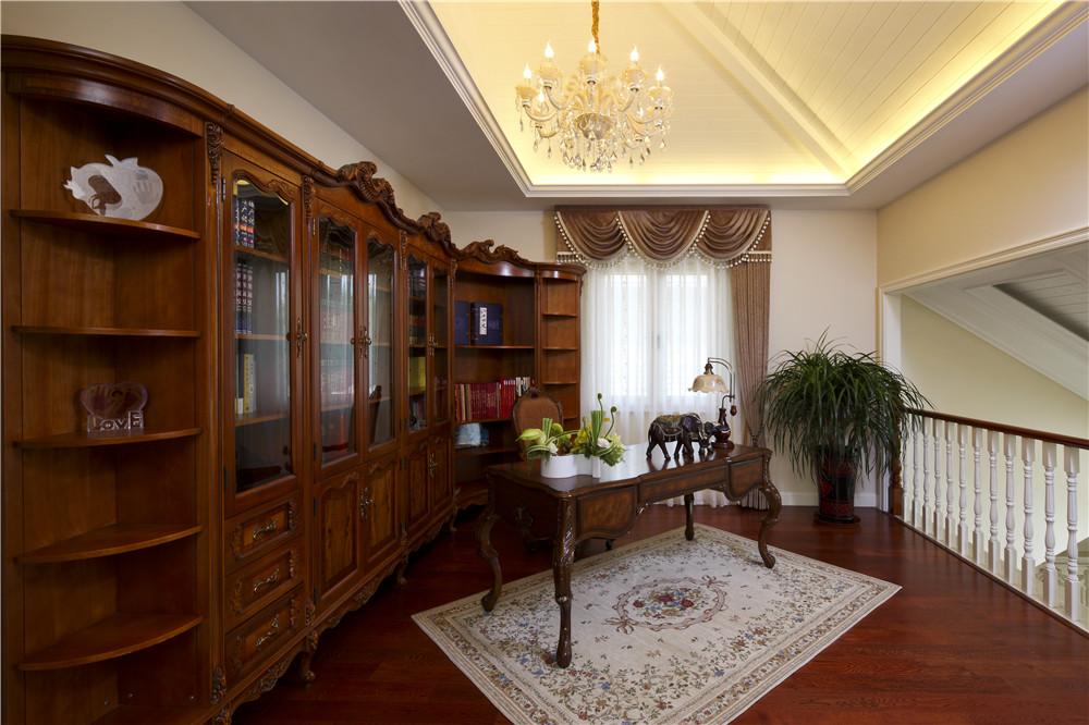 欧式 尚层装饰 别墅装修 书房图片来自尚层别墅装饰总部在保利垄上522㎡暖色盎然府邸的分享