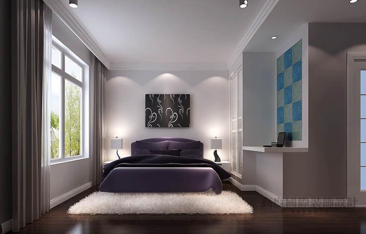 三居 港式 温馨 卧室图片来自高度国际设计装饰在龙湖香醍溪苑135㎡三居港式风格的分享