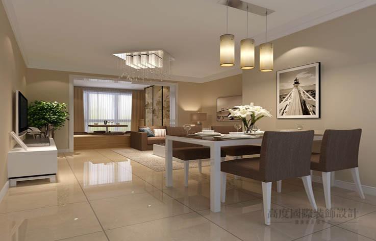 简约 现代 二居 客厅图片来自高度国际设计装饰在中景江山赋97平米现代简约风格的分享