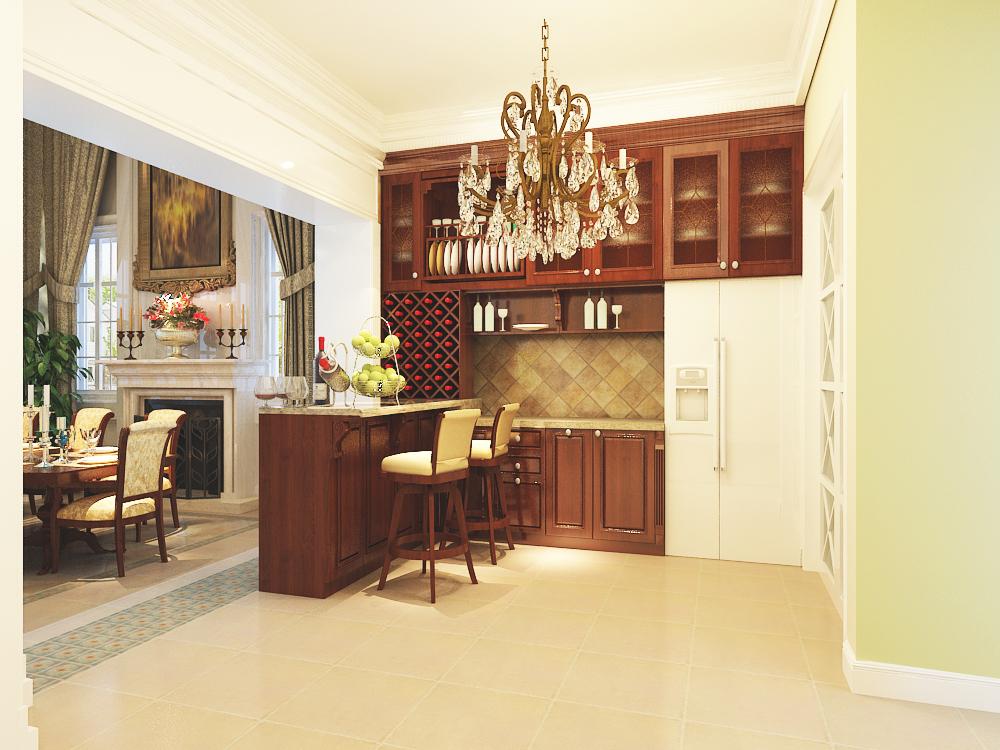 欧式 三居 80后 小资 厨房图片来自天津宜家宜装饰在宏成御溪园的分享