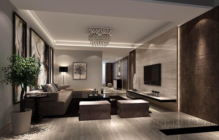 现代 公寓 客厅图片来自高度国际设计装饰在龙湖蔚蓝香醍170平米现代风格的分享
