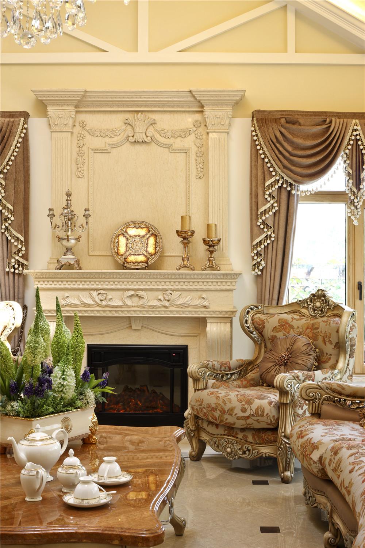 欧式 尚层装饰 别墅装修 客厅图片来自尚层别墅装饰总部在保利垄上522㎡暖色盎然府邸的分享