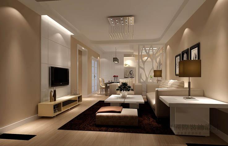现代 简约 二居 客厅图片来自高度国际设计装饰在龙湖蔚澜香醍88㎡现代简约风格的分享