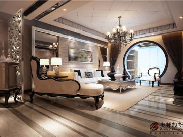 宝辰怡景园三居室户型新古典风格