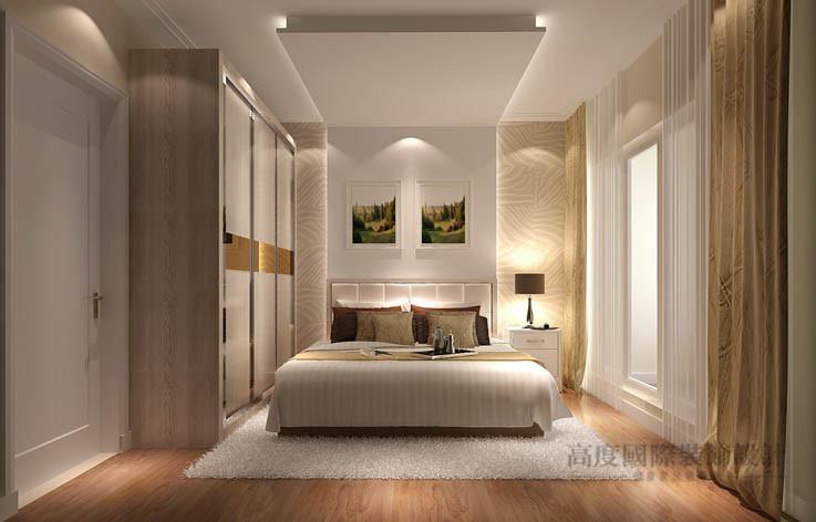 现代 简约 二居 卧室图片来自高度国际设计装饰在龙湖蔚澜香醍88㎡现代简约风格的分享