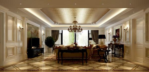 西山壹号院欧式风格设计案例之客厅
