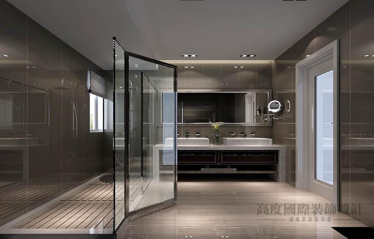 现代 公寓 卫生间图片来自高度国际设计装饰在龙湖蔚蓝香醍170平米现代风格的分享
