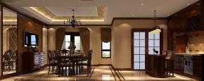 高度国际 别墅 白领 简约 美式 80后 小资 高富帅 白富美 餐厅图片来自北京高度国际装饰设计在天竺新新家园美式380平休闲别墅的分享