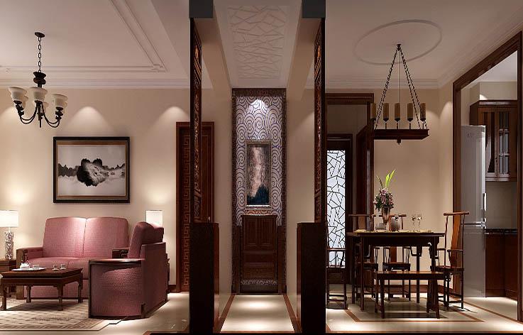 中式 三居 小资 红木家具 玄关图片来自高度国际装饰刘玉在6.5打造经典中式的分享