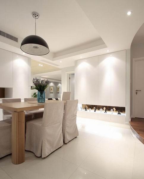 简约 欧式 田园 混搭 二居 三居 别墅 白领 收纳 餐厅图片来自上海倾雅装饰有限公司在清新淡雅三居室的分享