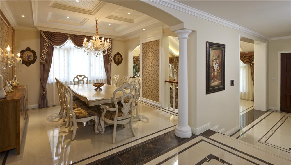 欧式 尚层装饰 别墅装修 餐厅图片来自尚层别墅装饰总部在保利垄上522㎡暖色盎然府邸的分享