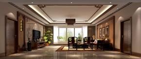 西山壹号院 高度国际 平层 中式 白领 80后 时尚 婚房 白富美 客厅图片来自北京高度国际装饰设计在西山壹号院中国范的分享