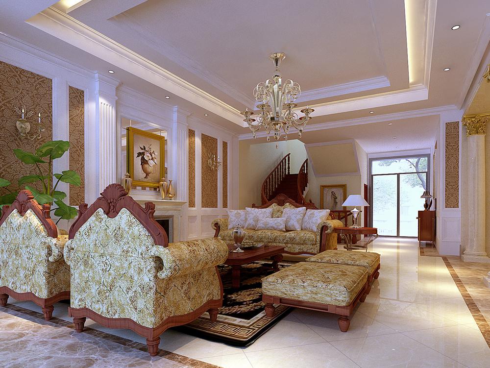 别墅 欧式 手绘 汤臣湖庭 客厅图片来自孙进进在首席设计师手绘汤臣湖庭别墅的分享