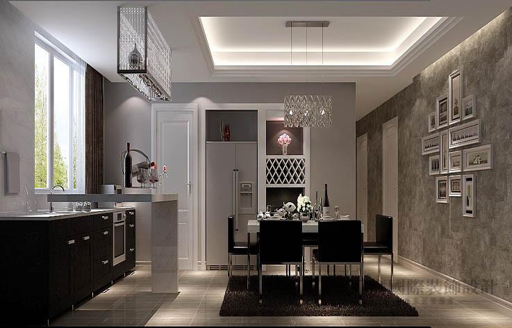 现代 公寓 餐厅图片来自高度国际设计装饰在龙湖蔚蓝香醍170平米现代风格的分享