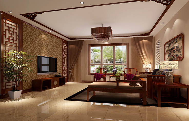 中式 二居 三居 别墅 白领 收纳 旧房改造 80后 小资 客厅图片来自周楠在中式风格公寓的分享