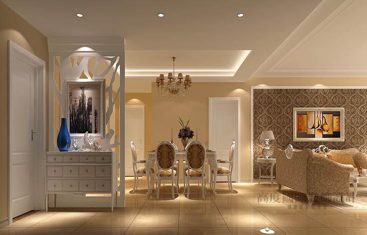 欧式 简约 三居 餐厅图片来自高度国际设计装饰在长滩壹号148㎡三居欧式简约风格的分享