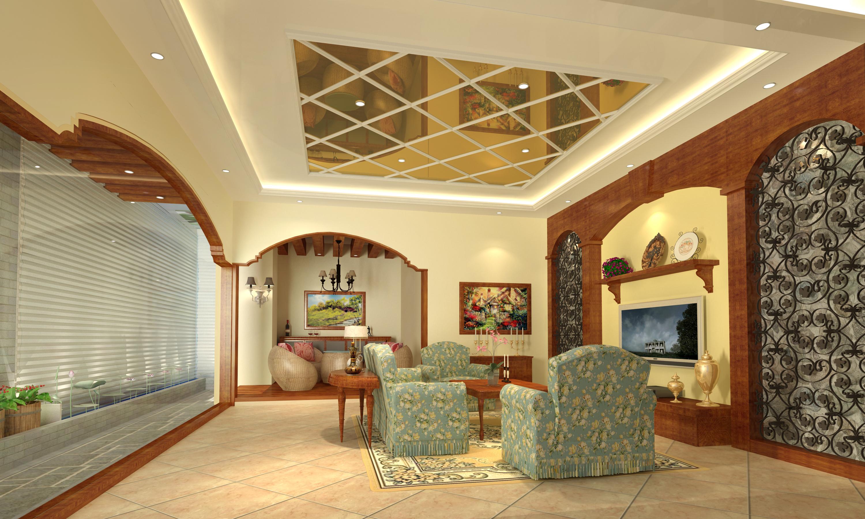 美式别墅装 美式设计 田园 美式案例 客厅图片来自广州-实创装饰在水悦城邦别墅的分享
