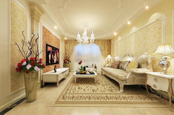 维多利亚 业之峰装饰 简约欧式 三居 客厅图片来自石家庄业之峰装饰在维多利亚简约欧式三居室的分享