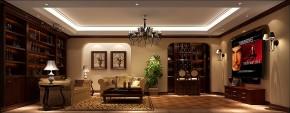 高度国际 别墅 白领 简约 美式 80后 小资 高富帅 白富美 客厅图片来自北京高度国际装饰设计在天竺新新家园美式380平休闲别墅的分享