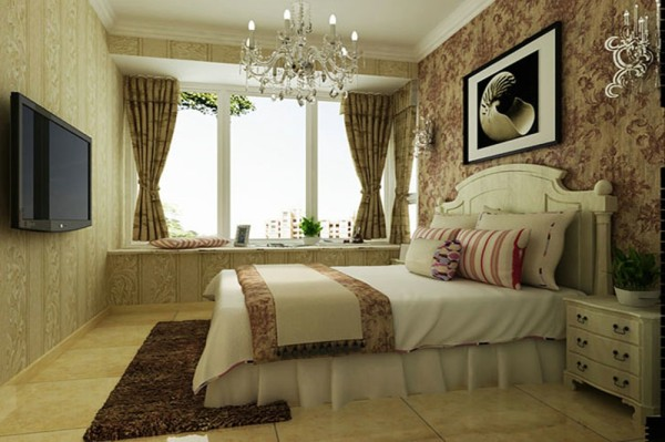 主卧 设计摒弃了过于复杂的造型和装饰,时尚装饰材料和浪漫温馨的颜色体现了业主的浪漫温情。