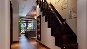 三居 时尚 混搭 舒适 新中式 楼梯图片来自高度国际装饰韩冰在中景江山赋180㎡时尚混搭效果的分享