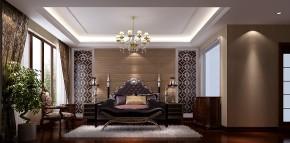 简约 中式 高度国际 三居 别墅 白领 80后 时尚 白富美 卧室图片来自北京高度国际装饰设计在西山壹号院中式典范的分享