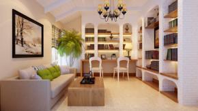 四居 美式 混搭 舒适 奢华 书房图片来自高度国际装饰韩冰在芍药居北里180㎡美式混搭效果的分享