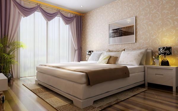 中铁国际城-122平米-简约风格-卧室装修效果图