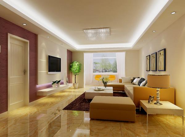 天通东苑小区复式结构170平米现代简约风格老房重装设计案例——一层客厅