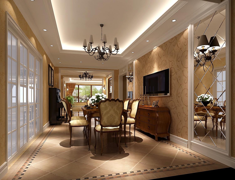 高度国际 美式 别墅 白领 简约 80后 白富美 高富帅 时尚 餐厅图片来自北京高度国际装饰设计在西山壹号院美式平层幸福之家的分享