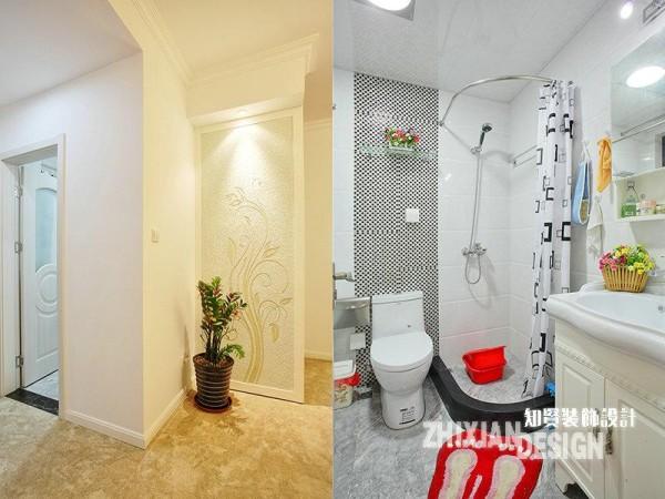 卫浴隐于空间的一角,一扇门区隔出两个不同的色感世界:门外,融融的灯光渲染出温馨的暖黄;门内,冷白的空间素净洁白。不管哪种感觉,它们都统统共融于我们浪漫的格林小屋。