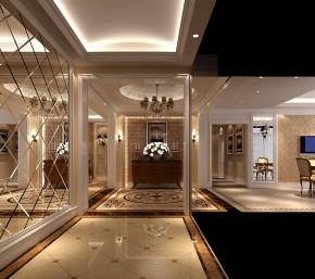 高度国际 美式 别墅 白领 简约 80后 白富美 高富帅 时尚 玄关图片来自北京高度国际装饰设计在西山壹号院美式平层幸福之家的分享