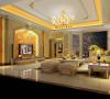 名雕装饰设计—香蜜湖一号华皓阁平层—欧式风格—客厅
