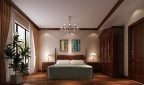 中式 高度国际 平层 别墅 80后 白富美 高富帅 奢华 时尚 卧室图片来自北京高度国际装饰设计在西山壹号院180平中国风的分享