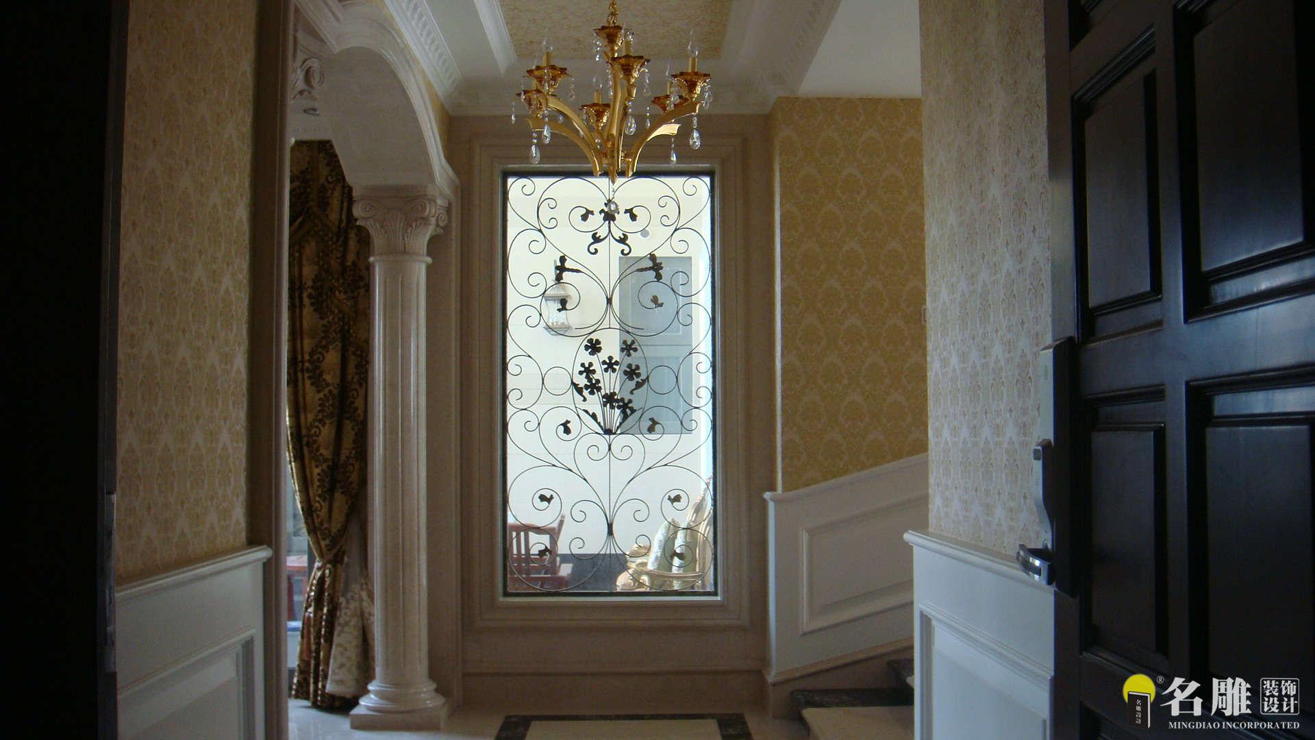 欧式 四居室 香蜜湖一号 高富帅 暖色调装饰 名雕装饰 玄关图片来自名雕装饰设计在香蜜湖一号华皓阁欧式奢华空间的分享