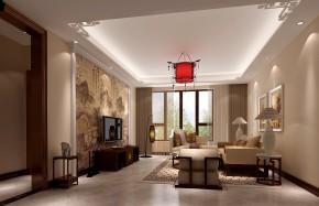 简约 中式 高度国际 三居 别墅 白领 80后 时尚 白富美 客厅图片来自北京高度国际装饰设计在西山壹号院中式典范的分享