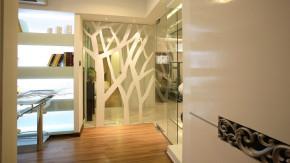 四居 现代 简约 时尚 温馨 舒适 玄关图片来自高度国际装饰韩冰在15万打造简约孔雀城251㎡四居的分享