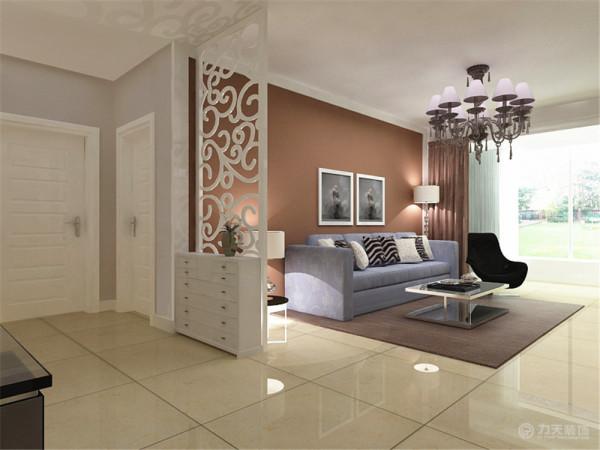 沙发背景墙的装饰与电视背景造型一致,交相呼应,凸显了现代简约风格的设计要素。
