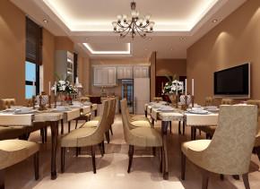 新古典 别墅 度假 舒适 餐厅图片来自武汉实创装饰在盛夏避暑,红莲湖度假屋的分享